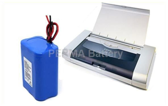 Li-ion battery for portable printers